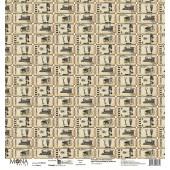Лист бумаги для скрапбукинга MoNa design БИЛЕТЫ коллекция Мастерская в конце улицы 30х30см