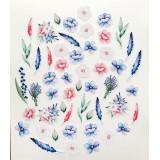 Набор высечек для украшения MoNa design ЦВЕТЫ коллекция Однажды в Париже