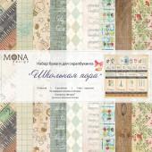Набор бумаги для скрапбукинга MoNa design ШКОЛЬНАЯ ПОРА 30x30см