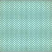 Лист бумаги для скрапбукинга MoNa design ГОЛУБОЙ ГОРОХ коллекция Сладко 30х30см