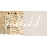 Лист бумаги для скрапбукинга Polkadot ГАЗЕТА коллекция Текстура 30х30см