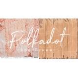Лист бумаги для скрапбукинга Polkadot ТЕРРАКОТОВЫЙ коллекция Текстура 30х30см