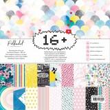 Набор бумаги для скрапбукинга Polkadot 16+ 20х20см