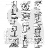 Набор штампов Tim Holtz MINI BLUEPRINTS напитки