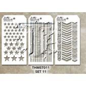 Набор мини-трафаретов Тима Хольца #11