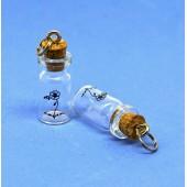 Бутылочка стеклянная с пробкой Рукоделие 2,5см с кольцом