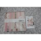 Набор бумаги и высечки Kaisercraft PEEKABOO-GIRL 30x30 б/у 24 листа и 50 высечек (распродажа)