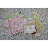 Набор материалов K&Company ITSY BITSY BABY GIRL 13 листов бумаги 20х20, наклейки 8 шт, подложки для фото 14 шт, теги 15шт (распродажа)