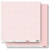 Лист бумаги для скрапбукинга Scrapberry's РОМАШКИ РОЗОВАЯ коллекция Элегантно Просто 30х30см