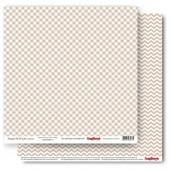 Лист бумаги для скрапбукинга Scrapberry's КЛЕТКА ЛАТТЕ коллекция Элегантно Просто 30х30см