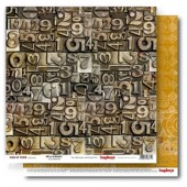 Лист бумаги для скрапбукинга Scrapberry's МИКРОСХЕМЫ коллекция Гаражи 30х30см
