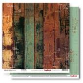 Лист бумаги для скрапбукинга Scrapberry's ВНЕ ВРЕМЕНИ коллекция Гаражи 30х30см