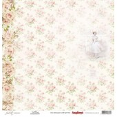 Лист бумаги для скрапбукинга Scrapberry's БАЛЕРИНА коллекция Джульетта 30х30см