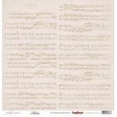 Лист бумаги для скрапбукинга Scrapberry's НОТЫ коллекция Джульетта 30х30см