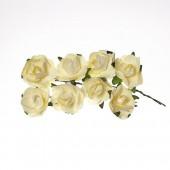 Бумажные цветы Scrapberry's РОЗЫ НЕЖНО-ЖЕЛТЫЕ