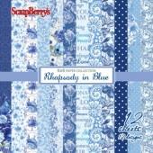 Набор бумаги для скрапбукинга Scrapberry's НОКТЮРН В ГОЛУБЫХ ТОНАХ 15x15см