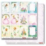 Лист бумаги для скрапбукинга Scrapberry's КАРТОЧКИ 1 коллекция Волшебная страна 30х30см