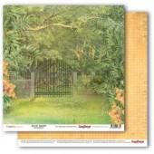 Лист бумаги для скрапбукинга Scrapberry's ЗЕЛЕНЫЙ САД коллекция Тропикана 30х30см