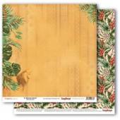 Лист бумаги для скрапбукинга Scrapberry's ЦАРЬ ЗВЕРЕЙ коллекция Тропикана 30х30см