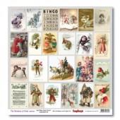 Лист бумаги для скрапбукинга Scrapberry's КАРТОЧКИ 2 коллекция Новогодний Пейзаж 30х30см