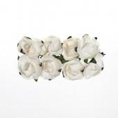 Бумажные цветы Scrapberry's РОЗЫ БЕЛЫЕ