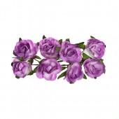 Бумажные цветы Scrapberry's РОЗЫ СИРЕНЕВЫЕ