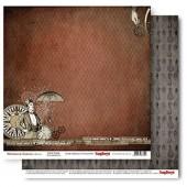 Лист бумаги для скрапбукинга Scrapberry's ЦИФРОВОЙ ДВИГАТЕЛЬ коллекция Механические иллюзии 30х30см