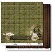 Лист бумаги для скрапбукинга Scrapberry's АНТИУТОПИЯ коллекция Механические иллюзии 30х30см