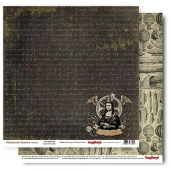 Лист бумаги для скрапбукинга Scrapberry's МАШИНА РАЗЛИЧИЙ коллекция Механические иллюзии 30х30см