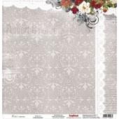 Лист бумаги для скрапбукинга Scrapberry's СЧАСТЬЕ коллекция Элегия 30х30см