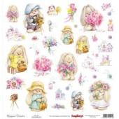 Лист бумаги для скрапбукинга Scrapberry's КАРТОЧКИ 2 коллекция Летняя радость 30х30см