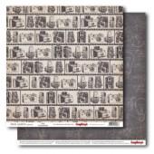 Лист бумаги для скрапбукинга Scrapberry's ФОТОПЛЕНКА коллекция Фотоархив 30х30см