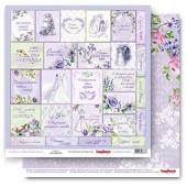 Лист бумаги для скрапбукинга Scrapberry's КАРТОЧКИ 2 коллекция Счастливый день 30х30см