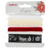 Набор декоративных лент Scrapberry's ЭЛЕГИЯ