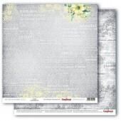 Лист бумаги для скрапбукинга Scrapberry's НЕЖНОСТЬ коллекция Разрисованная Вуаль 30х30см