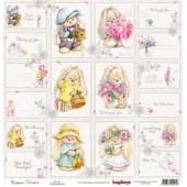 Лист бумаги для скрапбукинга Scrapberry's КАРТОЧКИ 1 коллекция Летняя радость 30х30см