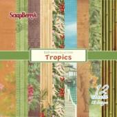 Набор бумаги для скрапбукинга Scrapberry's ТРОПИКАНА 15х15см