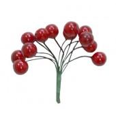Декоративные ягодки красные