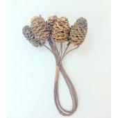 Декоративные шишечки Scrapberry's с блестками ЗОЛОТЫЕ