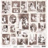 Лист бумаги для скрапбукинга Scrapberry's ОТКРЫТКИ 1 коллекция ЗИМНЕЕ УТРО 30х30см