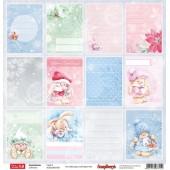 Лист бумаги для скрапбукинга Scrapberry's КАРТОЧКИ 2 коллекция Зимняя ягодка 30х30см