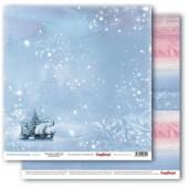 Лист бумаги для скрапбукинга Scrapberry's ЗАСНЕЖЕННЫЙ ПЕЙЗАЖ коллекция Зимняя Сказка 30х30см