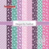 Набор бумаги для скрапбукинга Scrapberry's ЗИМНИЕ КОНТРАСТЫ 15х15см
