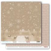 Лист бумаги для скрапбукинга Scrapberry's СЕВЕРНЫЙ ОЛЕНЬ коллекция Вкус Зимы 30х30см
