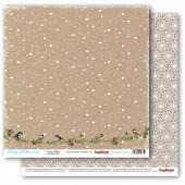 Лист бумаги для скрапбукинга Scrapberry's МАЛИНОВКИ В СНЕГУ коллекция Вкус Зимы 30х30см