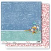 Лист бумаги для скрапбукинга Scrapberry's ГРАНИТ НАУКИ коллекция Школьная Пора 30х30см