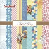 Набор бумаги для скрапбукинга Scrapberry's ШКОЛЬНАЯ ПОРА 15х15см