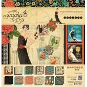 Набор бумаги для скрапбукинга Graphic45 COUTURE 30x30см