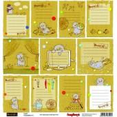 Лист бумаги для скрапбукинга Scrapberry's КАРТОЧКИ коллекция Басик 30х30см