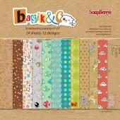 Набор бумаги для скрапбукинга Scrapberry's БАСИК 15х15см